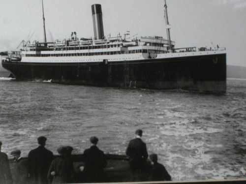 SS Laurentic launch